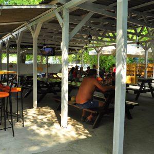 Фото летнего кафе в мини-отеле Попугай в Курортном