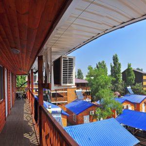 Фото вид сверху в кемпинге Ромашка в Коблево Николаевской области