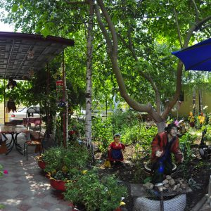 Фото дворика для отдыха в Курортном в пансионе У Кузи