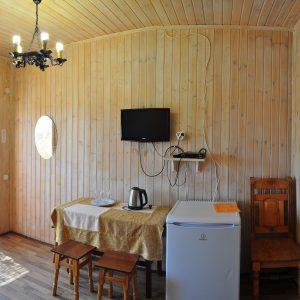 Фото кухни в номере в комплексе развлечений в Коблево Родео-Парк