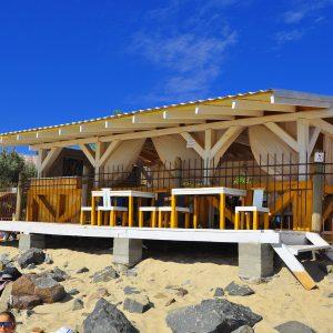 Фото кафе на пляже базы отдыха в Затоке Блик