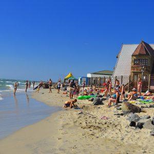 Фото общего пляжа в Затоке